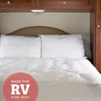 """RV Mattress Pad - Extra Plush Bamboo Topper with Fitted Skirt - Mattress Cover for RV"""