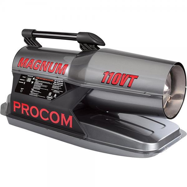 ProCom Recon Portable Kerosene Diesel Forced Air Construction Heater - 110,000 BTU, Model#: PCK110VT