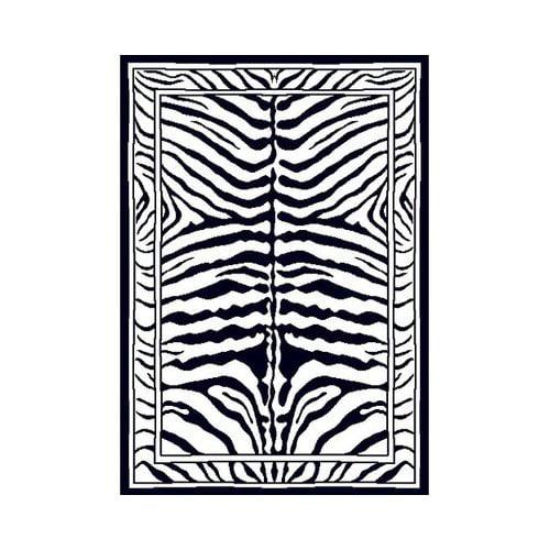 Home Dynamix Zone Zebra Print Rug