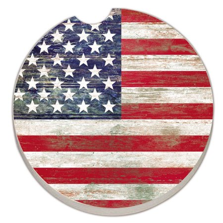 - CounterArt Absorbent Stone American Flag Car Coaster (Set of 2)