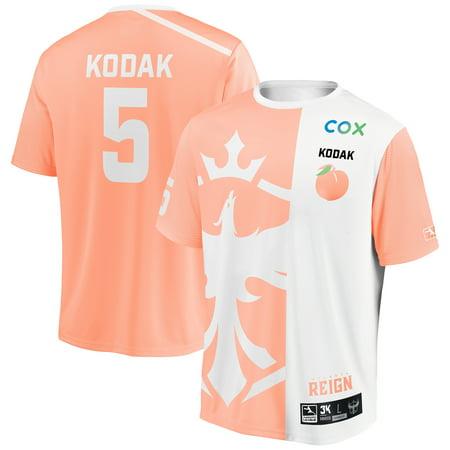 Kodak Atlanta Reign INTO THE AM 2019 Overwatch League Limited Edition Authentic Third Jersey - Orange/White