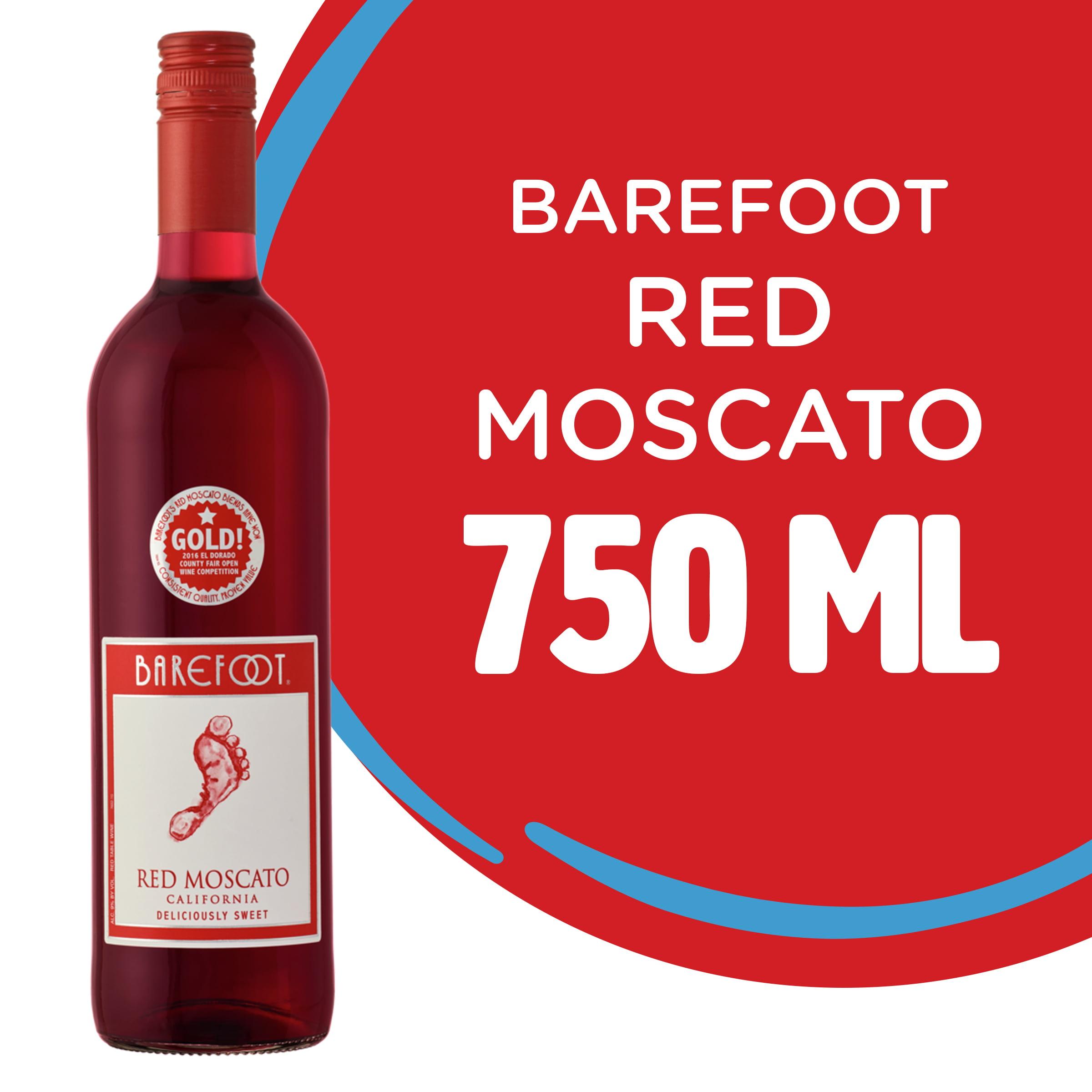 Barefoot Red Moscato Wine 750 Ml Walmart Com Walmart Com