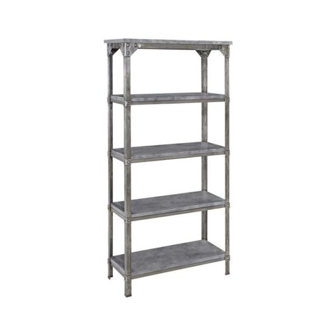 Home Styles Urban Style 5 Shelf Bookcase in Aged Metal - image 1 de 2