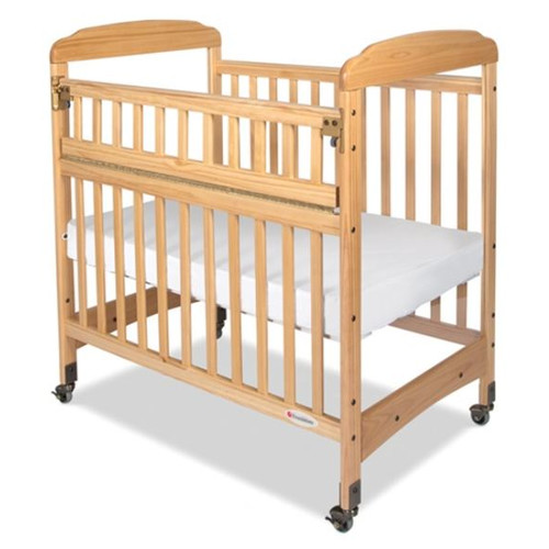 Foundations Serenity Safereach Hinged Clearview Compact Convertible Crib with Matrress