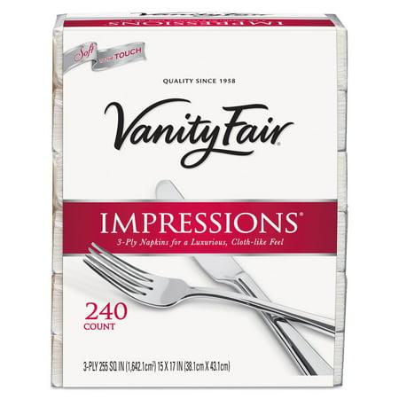 Vanity Fair Impressions Dinner Napkins, 240 Ct