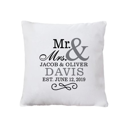 Personalized Mr and Mrs Pillow - Mr & Mrs Pillows