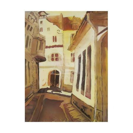 European City Street Abstract Painting. Print Wall Art By Iriana Shiyan