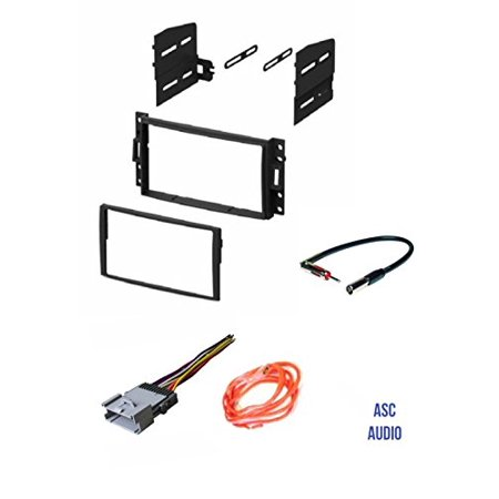 ASC Double Din Stereo Dash Kit, Wire Harness, and Antenna Adapter for some 05-08 Buick Terraza, 05-13 Chev Corvette, 05-08 Chev Uplander, 06-10 Hummer H3, 05-06 Pontiac Montana SV6, 05-07