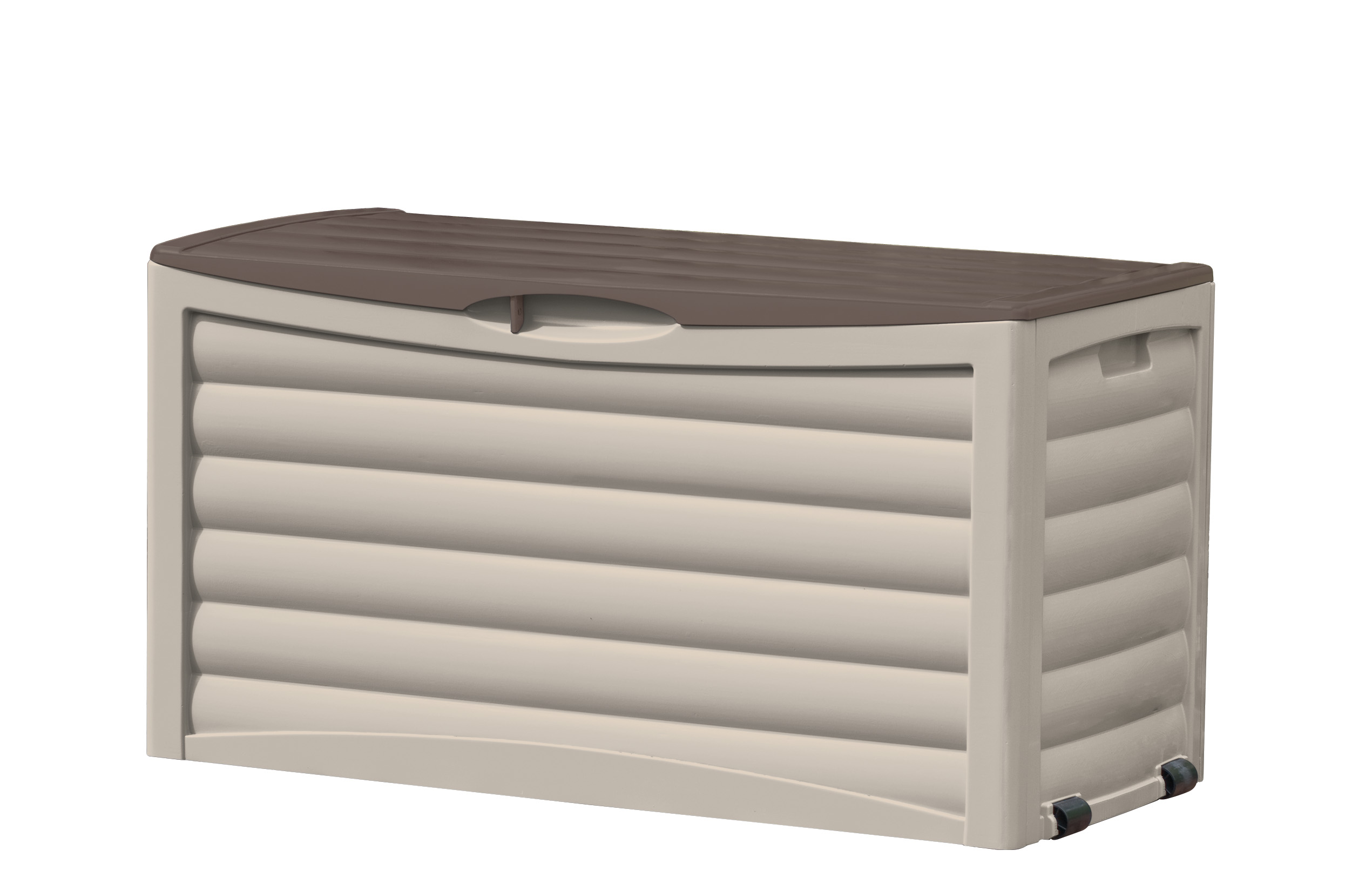 Dark Brown 74 Gallon Deck Box For Outdoor Storage All Weather Resin