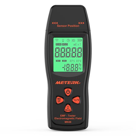 - Meterk EMF Meter Handheld Mini Digital LCD EMF Detector Electromagnetic Field Radiation Tester Dosimeter Tester Counter