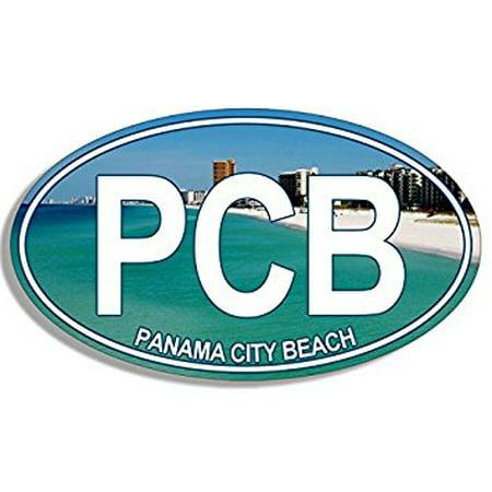 OVAL PCB Panama City Beach Sticker Decal (florida fl resort gulf) 3 x 5 (Best Florida Gulf Beaches)