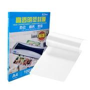 DSB DSB 80mic A4 Laminating Film Clear Sheet EVA Bond for Photo Paper Laminating Home Studio Office Supply 100 Sheets