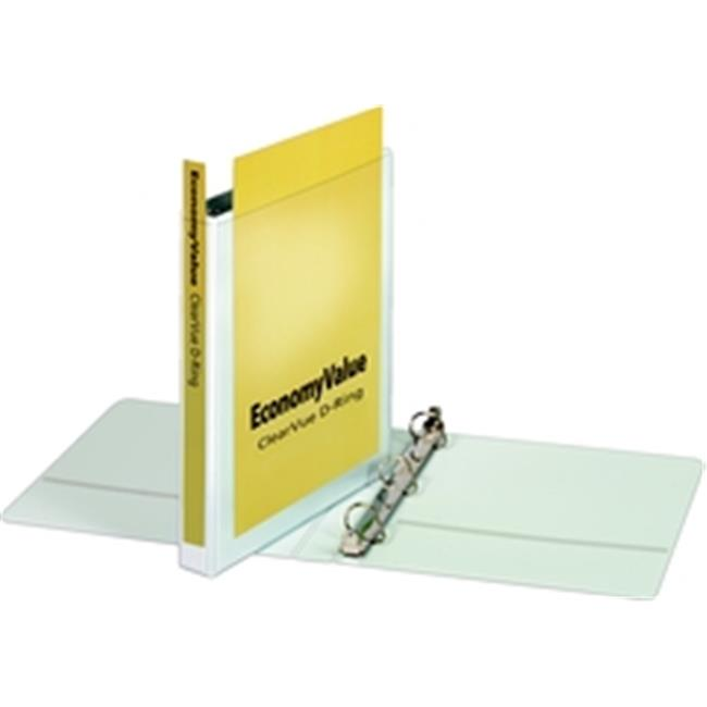 Cardinal 90741 EconomyValue ClearVue Slant-D Ring Binder  1 in   w o Packaging  White