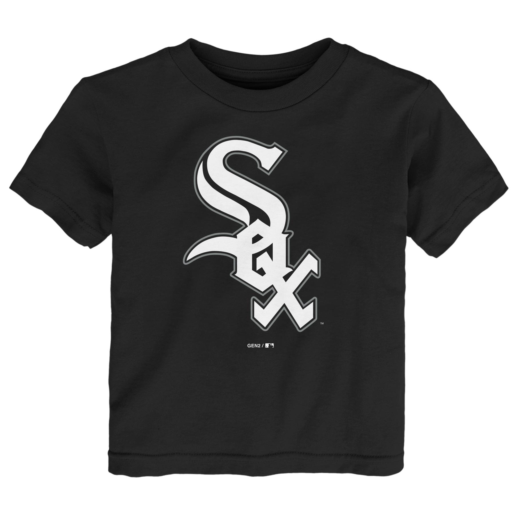 Chicago White Sox Toddler Primary Logo T-Shirt - Black