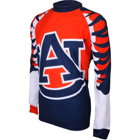 Auburn Cycling Jersey - Adrenaline Promotions Auburn University Tigers Long Sleeve Mountain Bike Jersey