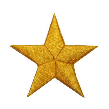 ID 3449 Yellow Star Patch Symbol Space Night Sky Embroidered Iron On