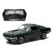"""1968 Ford Mustang GT Fastback Green (Steve McQueen) """"Bullitt"""" (1968) Movie 1/43 Diecast Model Car by Greenlight"""