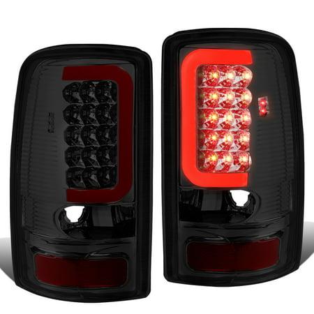 For 00-06 Yukon Denali / Suburban / Tahoe GMT800 Pair of 3D LED Tail Brake Lights (Chrome Housing Smoked Lens) 03 04 05
