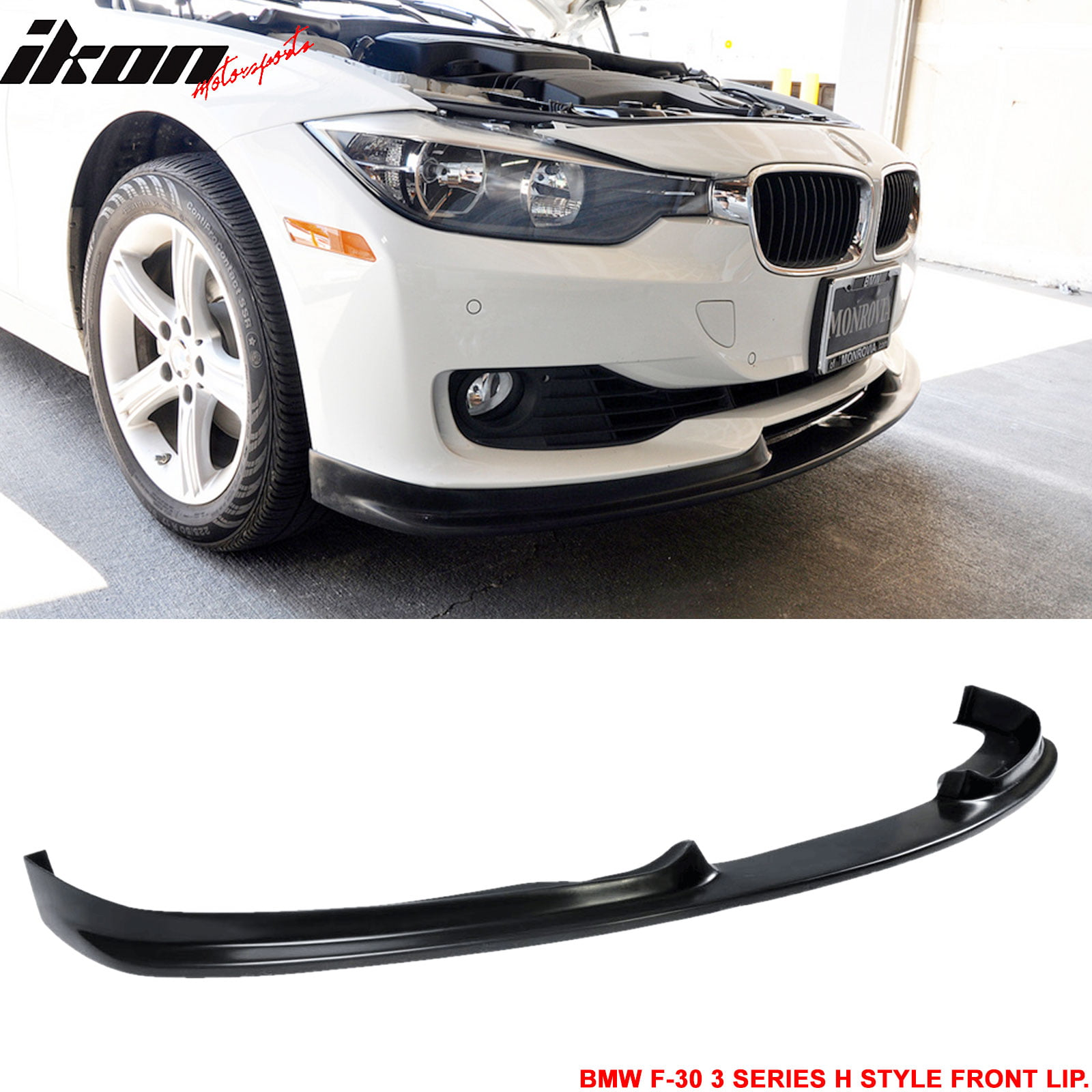Fits 12 15 Bmw F30 3 Series H Style Pu Poly Urethane Front Bumper