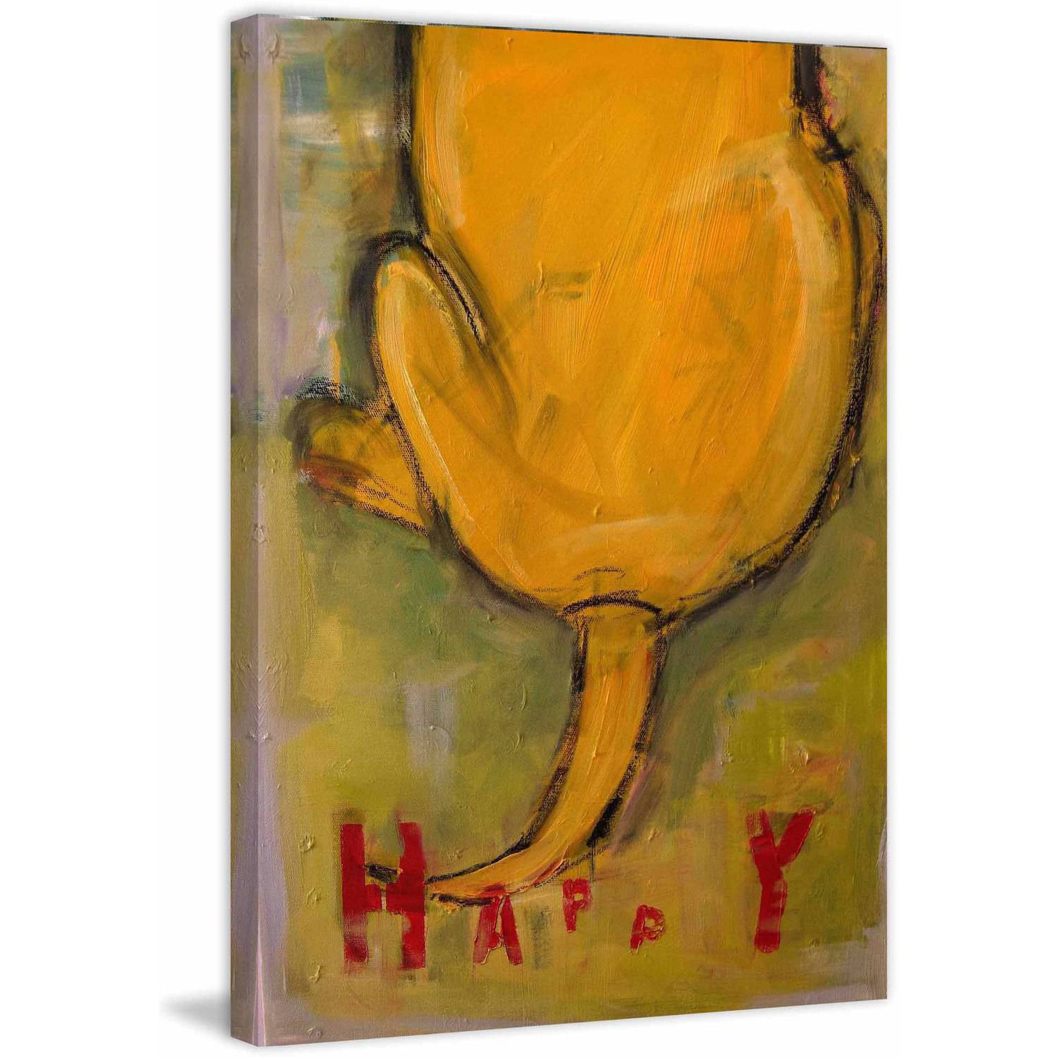 """Marmont Hill """"Happy Tails"""" by Tori Campisi Painting Print on Canvas"""