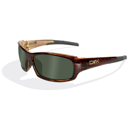 DVX Oculus Polarized Green Lens/ Layered Tortoise Frame Rx-able Sunglasses