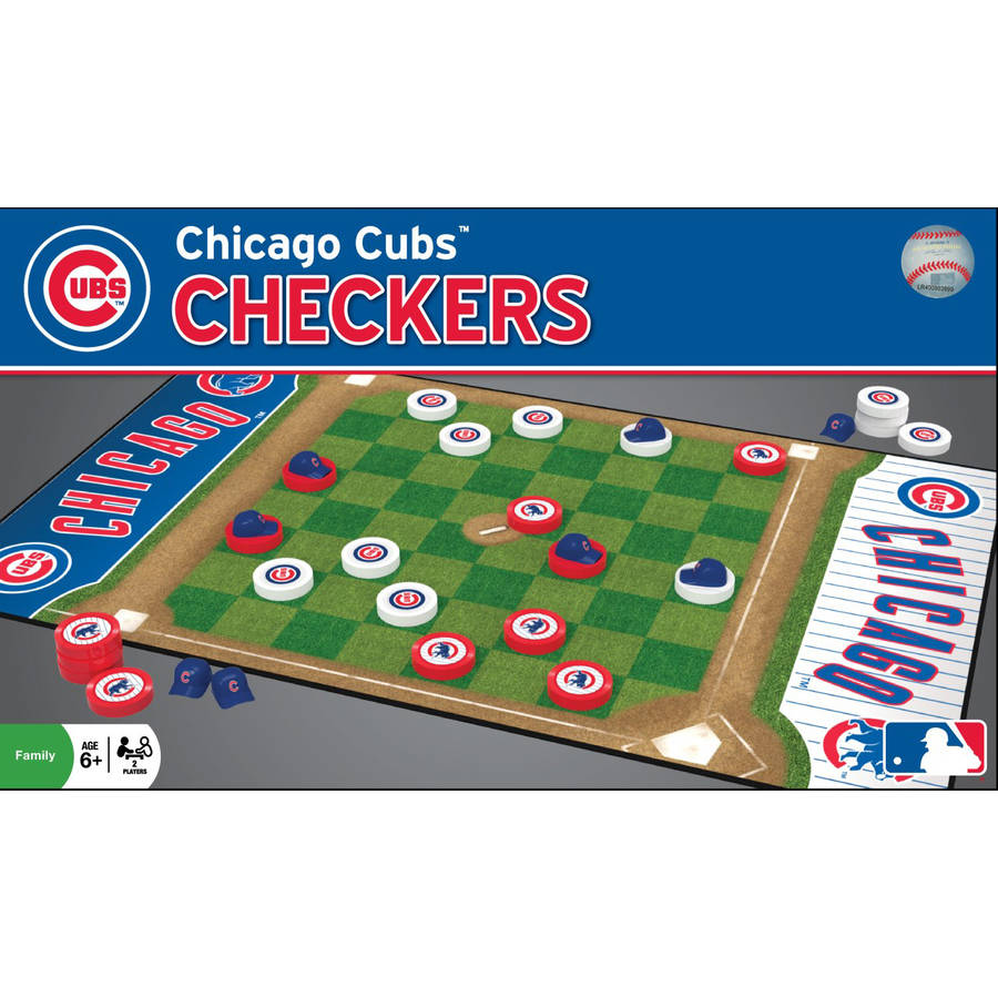 MLB Chicago Cubs Team Checkers