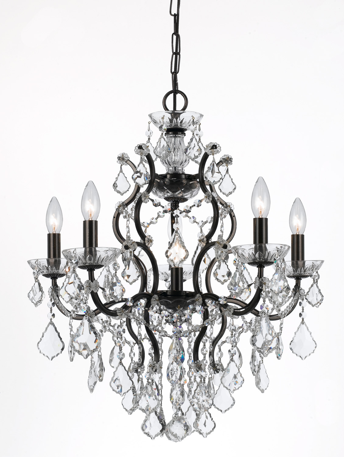 Crystorama 4455-VZ-CL-S Six Light Chandeliers by Crystorama