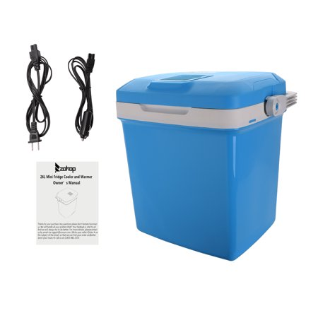 ZOKOP Portable Car Fridge Travel Cooler Warmer 12V(DC)/120V(AC) 26 Liter Capacity,Blue