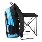Large Lightweight Outdoor Sports Hiking Backpack with Folding Chair blue