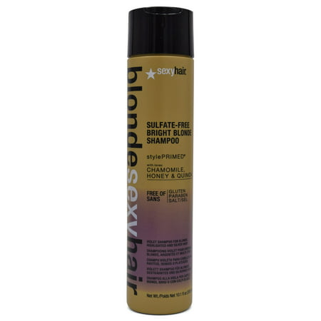 Blonde Sexy Hair Bright Blonde Violet Shampoo for Highlighted & Silver Hair 10.1 oz