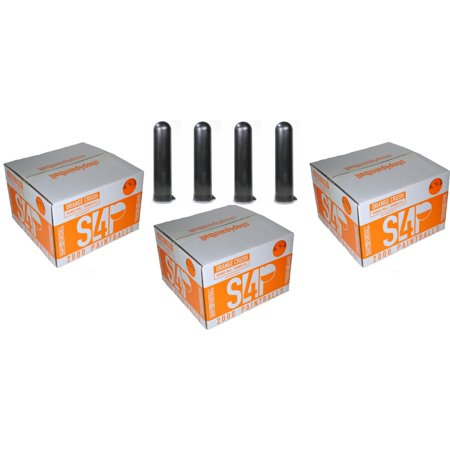 3 CASES (6,000 Paintballs) + 4 PODS - S4P - ORANGE CRUSH - .68 Cal. Paintballs - Orange