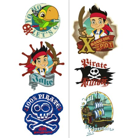 Disney Jake and the Never Land Pirates Tattoo - Pirate Theme Tattoos