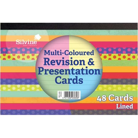 Multi-Coloured; Lined - Silvine Revision & Presentation Cards 6