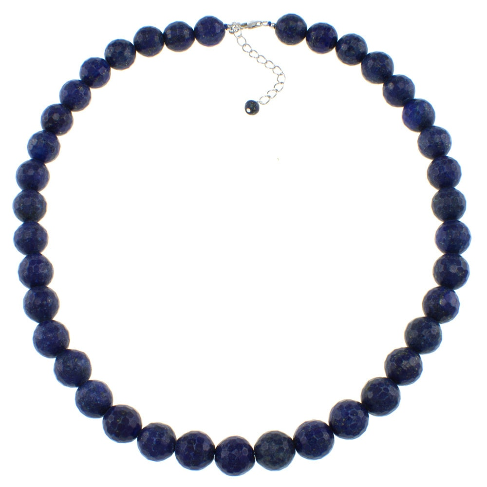 Pearlz Ocean  Faceted Bead Necklace September Purple Lapis Blue