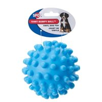 Ethical 5-Inch Vinyl Giant Squeaky Ball Dog Toy, Colors May Vary, Squeaker inside for added fun By Ethical Pet