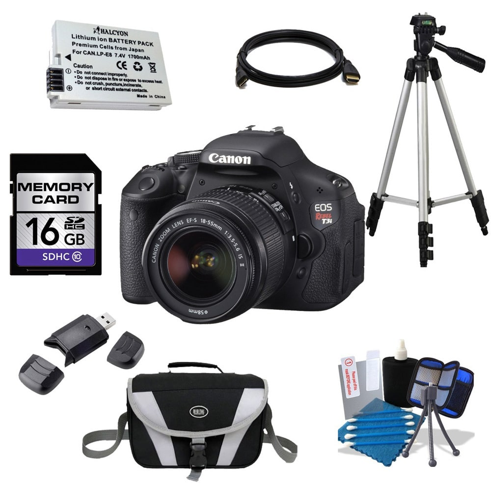 Canon  EOS Rebel T3i DSLR Camera Body and EF-S 18-55mm f/...