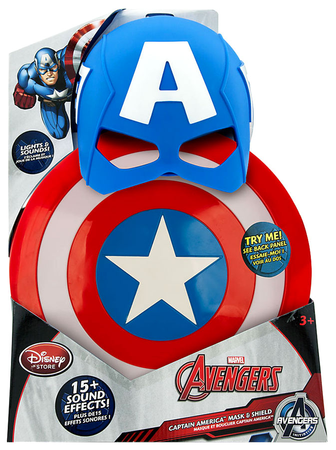Marvel Avengers Initiative Captain America Mask & Shield by