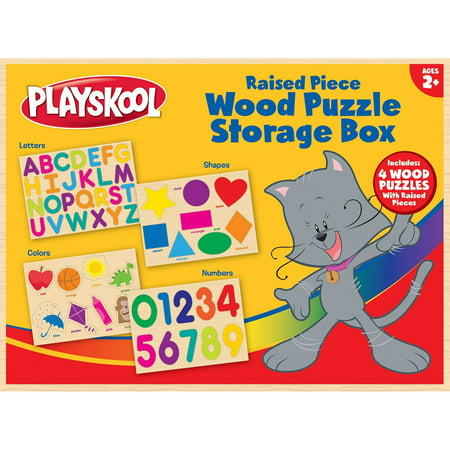 Playskool Wood Puzzle Storage Box