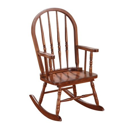 ACME Kloris Youth Wooden Rocking Chair, Tobacco 16