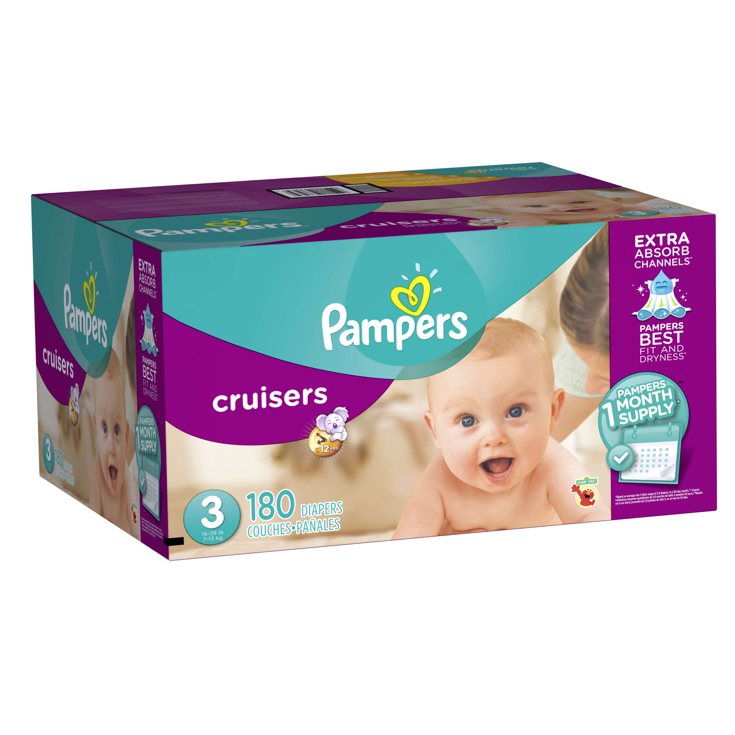 Pampers Cruisers Diapers, Size 3, 140 Diapers