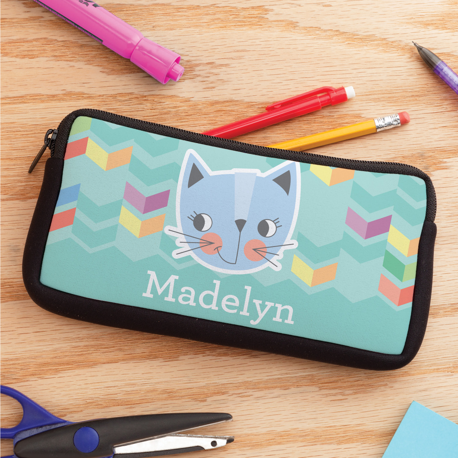 Cutesy Cat Personalized Pencil Case