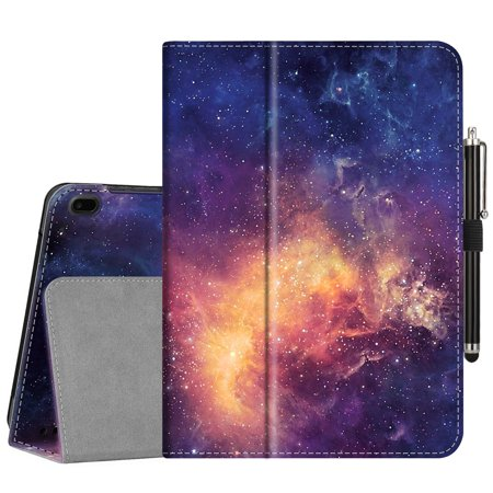 """Tablet Case for Onn 10"""" 10.1 Inch Android Tablet - Fintie Protective Folio Cover With Stylus Holder, Galaxy"""