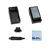 Battery Charger f/ Panasonic DMW-BCK7 Battery f/ Lumix DMC-TS30, DMC-SZ10, DMC-FH2, DMC-FH24, DMC-FH25, DMC-FH27, DMC-FH4, DMC-FP5, DMC-FH6, DMC-FP7, DMC-FH8 Camera + Microfiber Cloth