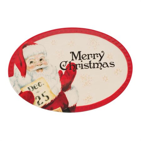 Fitz And Floyd - Letters To Santa - Sentiment Tray (Fitz And Floyd Serving Tray)