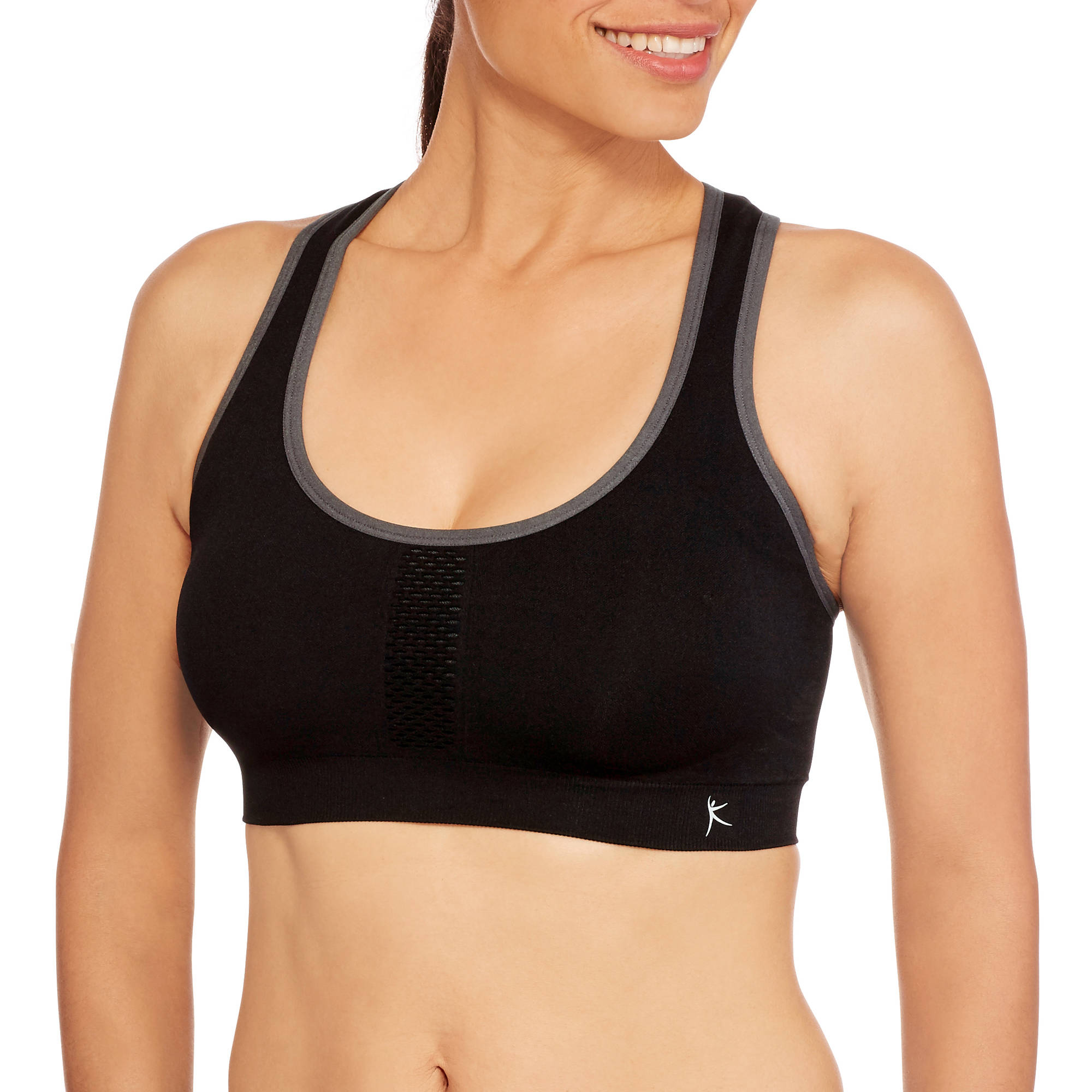 Danskin Now Women's Seamless Mesh Racerback Sports Bra