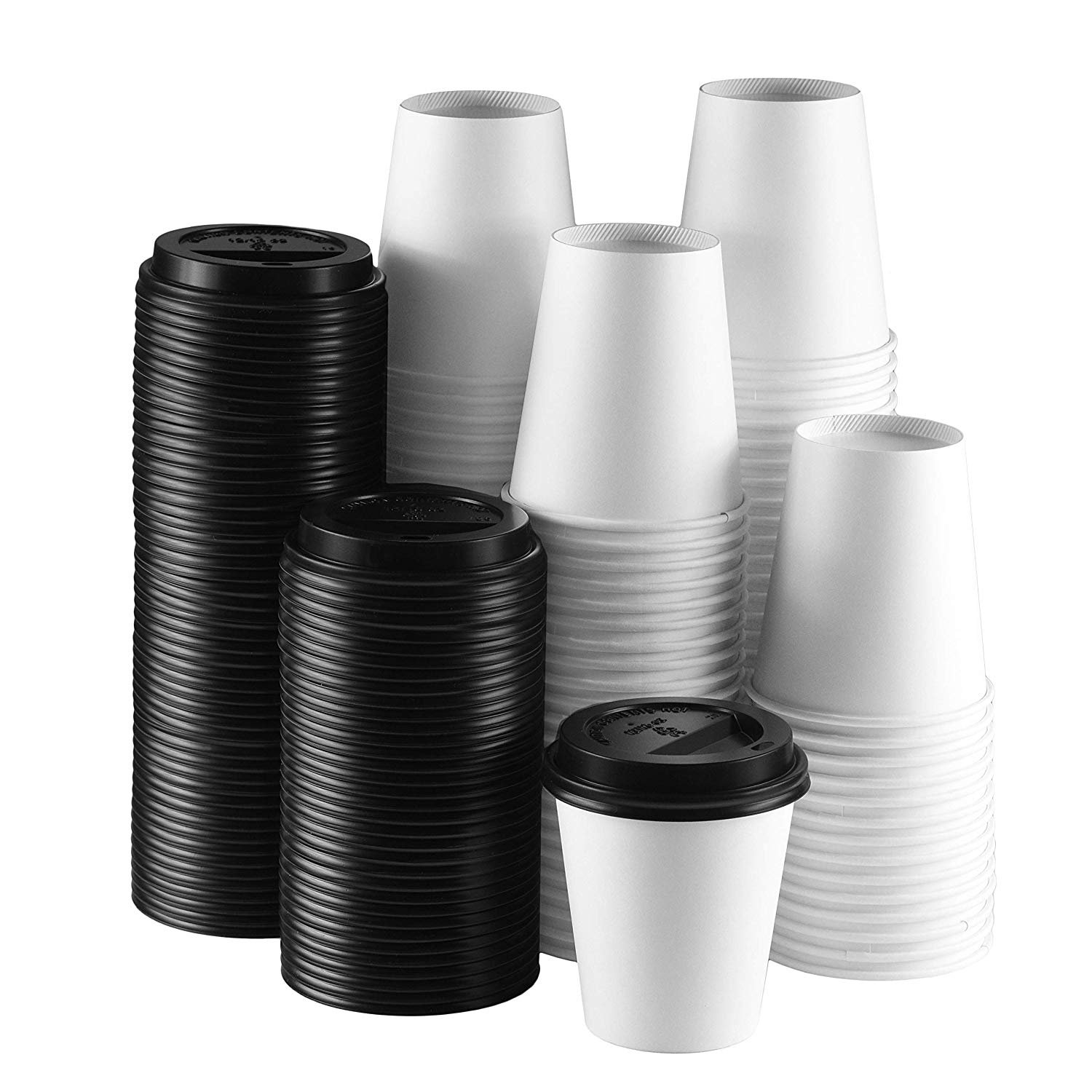 Tea Great for Hot Coffee 12oz Paper Coffee Cups Disposable Cups for Hot Drinks 50 Pack Cold Drinks