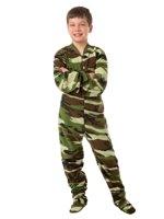 e5d5e9b25e Big Feet Pjs Kids Green Camo Fleece Boys Footed Pajamas One Piece Sleeper