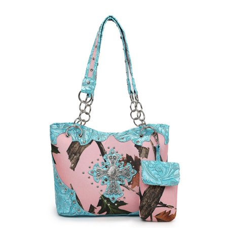 Blancho Bedding Womens Leaves Elves HB-S#1 PU Leather Handbag Fashion Elegant Tote Bag Turquoise - Women Elves