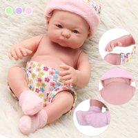 Newborn Reborn Infant Baby Doll Handmade Lifelike Realistic Silicone Vinyl Cloth Soft Sleeping Toy Toddler Kid Gifts