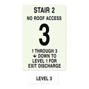 INTERSIGN NFPA-PVC1812(21N3) NFPASgn,StairId2,RoofAccssN,Flr Lvl 3 G0264988